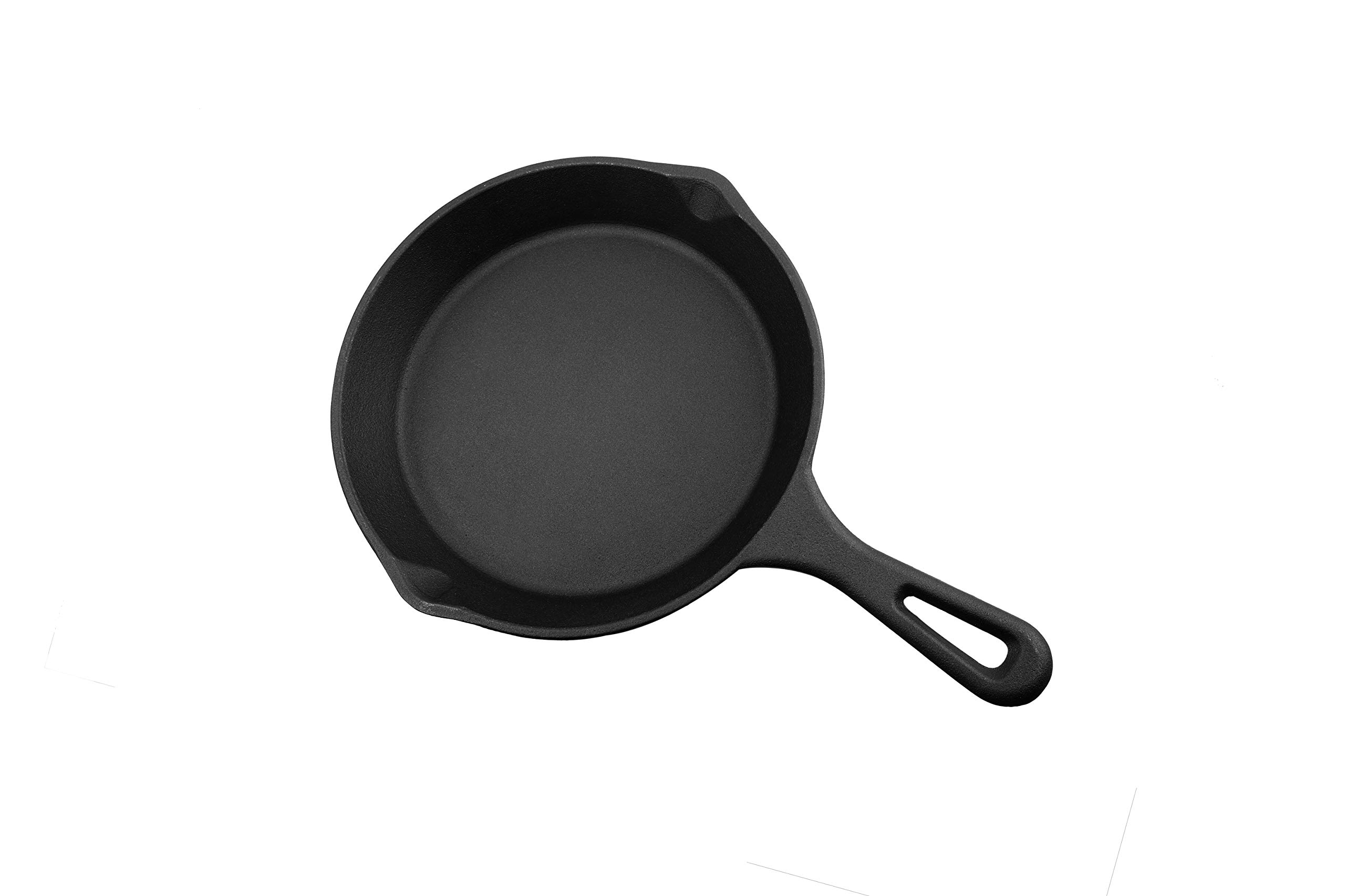 Alpha Global Induction Base Cast Iron Frying Pan, 12 Inches, Black