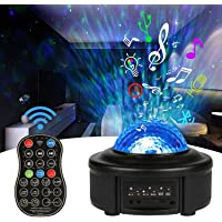 Innoo Tech Star Projector Night Light,Ocean Wave Projector 11 Colors LED Remote Control Projector Lamp Built-in…