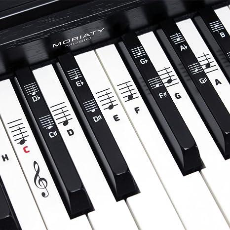 Piano + Keyboard de notas adhesivo ☆ [Versión alemana] para instrumentos con 49,