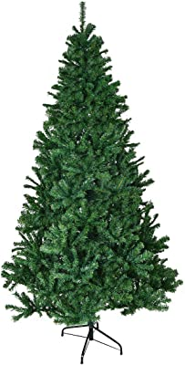 6' PVC Artificial Christmas Tree Premium Hinged w/ Solid Metal Legs 1000 Tips