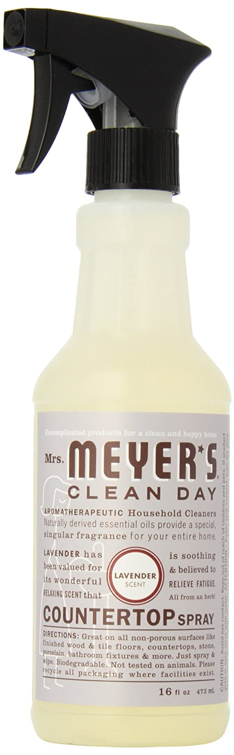 Mrs. Meyer's Clean Day Counter Top Spray, Lavender, 16 Ounce Bottle