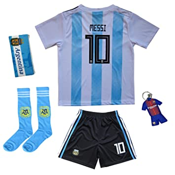 Amazon.com: KID BOX 2019 Argentina Lionel Messi #10 Home ...