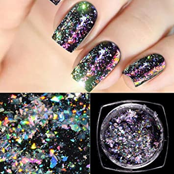 Amazon.com : Womens Nail Powder Mirror Effect, Clearance Iuhan Optical Chameleon Mirror Powder DIY Dust Nail Art Glitter Chrome Pigment (D) : Beauty