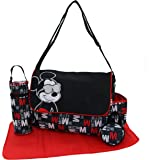 "Disney Mickey Mouse Multi Pc Diaper Bag Set with Mickey Mouse""Hip Mickey"" Print (Includes Changing Pad, Pacifier Holder…"