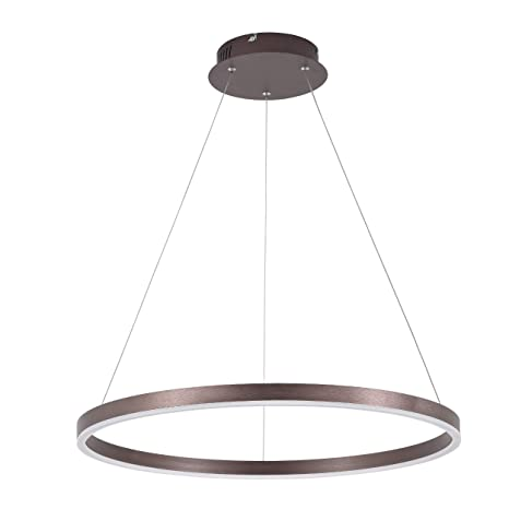 New Modern Led Acrylic Brushed Coffee Circle Lamp Chandelier Lights For Dining Room Bed Room Deco Ceiling Fixtures With A Long Standing Reputation Lights & Lighting Ceiling Lights