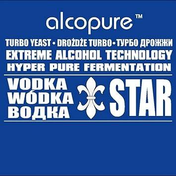 Turbo de levadura - VODKA STAR Alco Pure alta Alcohol Spirit Vodka Alcohol Home Brew: Amazon.es: Hogar
