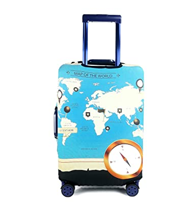 Todegi creative world map design suitcase protective anti scratch todegi creative world map design suitcase protective anti scratch luggage cover s18 gumiabroncs Images