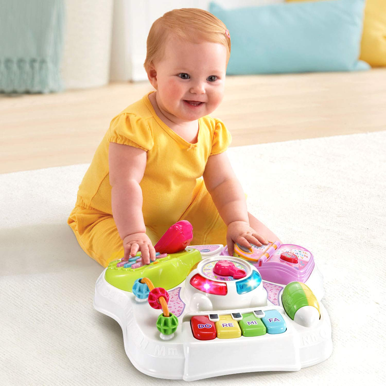 VTech Sit-To-Stand Learn & Discover Table, Pink by VTech (Image #4)