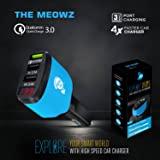 The Meowz Car Charger Fast Charging for All Phones(Mobiles) Qualcomm Quick Charge 3.0 Certified Fast Charging for All Phones(Mobiles) iPhone Three USB Port
