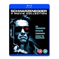Arnold Schwarzenegger 4 Movies Collection: The Terminator + Predator + Commando + Conan the Barbarian (4-Disc Box Set) (Fully Packaged Import)