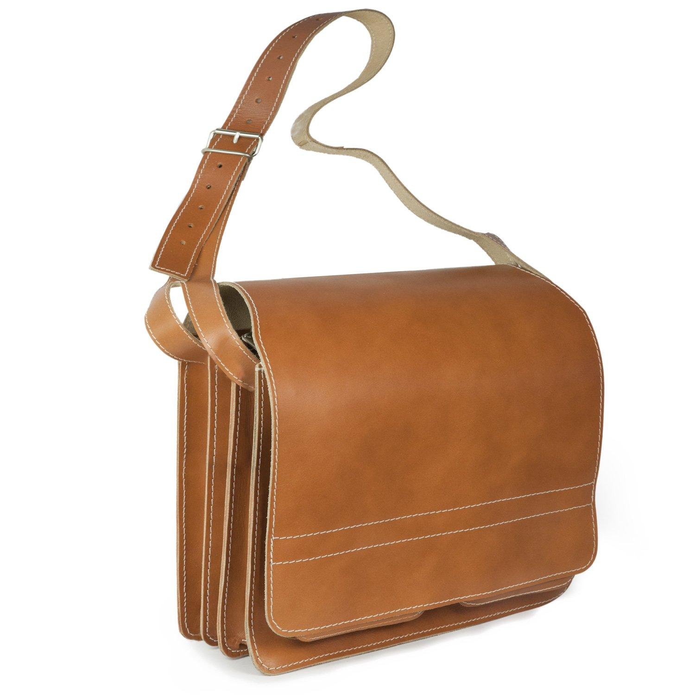 Große Aktentasche/Lehrertasche Größe XL aus Leder, für Damen und Herren, Braun, Jahn-Tasche 675 für Damen und Herren 675-braun