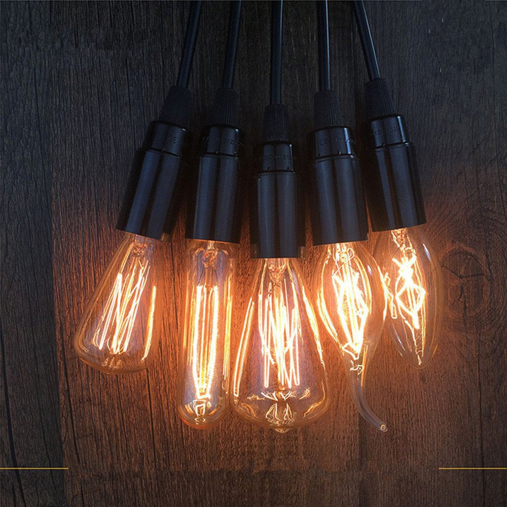 8Pack Edison Light Bulb Vintage Incandescent Chandelier Light Bulbs 60W 110-130V Bent Flame Tip Light Bulb with Candelabra Base (E12) Home Light Fixtures Decorative, Dimmable Warm White Spiral Filame by lingruiyi83 (Image #1)