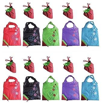 LIFECART - 10 bolsas reutilizables para la compra, surtido ...