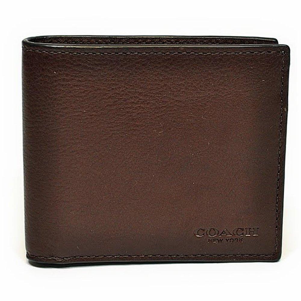 (コーチ)COACH 財布 折財布 メンズ F75084 MAH カーフ レザー ダブルビル ウォレット マホガニー [並行輸入品] B01M6Y8FH5