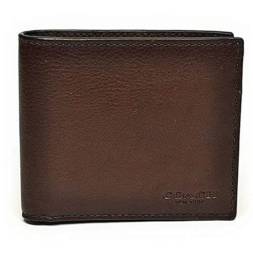 5c2875e97e48 (コーチ)COACH 財布 折財布 メンズ F75084 MAH カーフ レザー ダブルビル ウォレット マホガニー