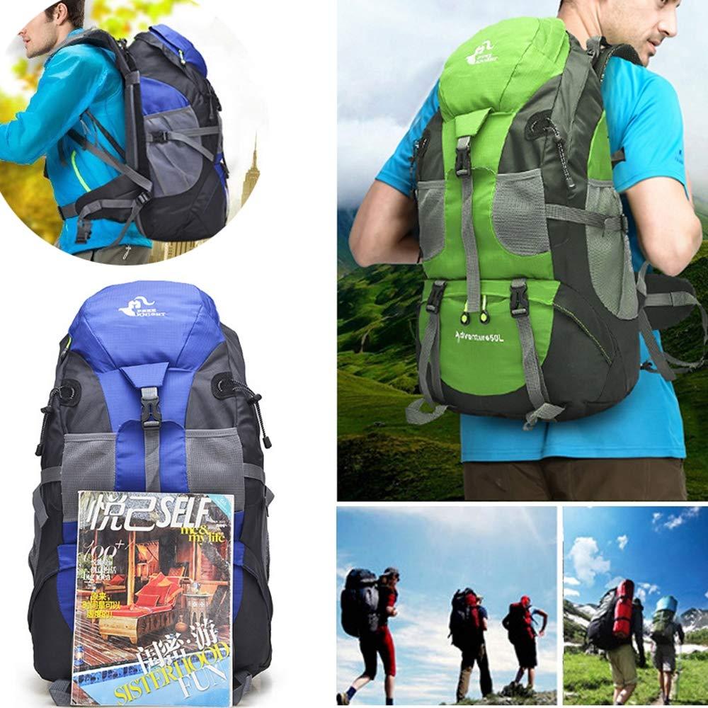 Adhere to 50L Rucksack Outdoor Outdoor Outdoor Rucksack Männer und Frauen Bergsteigenbeutel wasserdichtes Nylon B07Q8DSQDV Wanderruckscke Modisch 44b914