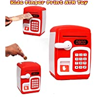 WireScorts® Money Safe ATM Kids Piggy Savings Bank with Electronic Lock Piggy Bank ATM with Password & Finger Print - Multi Color & Design