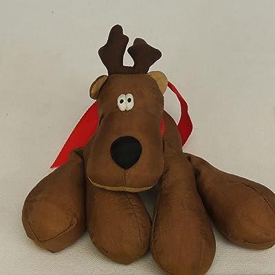 Vintage 1980's Hallmark Rodney Reindeer Plush Nylon Puffalump Beanbag: Toys & Games