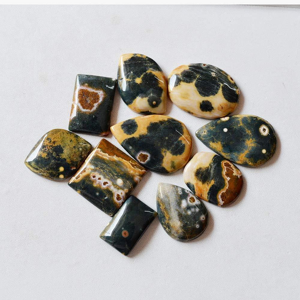 Natural Ocean Jasper Gemstone Cabochon Wholesale Price Loose Gemstone 10 Pieces Ocean Jasper Cabochons 34 Grams Natural Gemstone cab