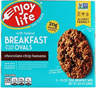 product image for Enjoy Life Foods - Soft-Baked Breakfast Fruit & Oat Ovals Chocolate Chip Banana - 5 Bars, 8.8oz