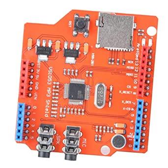 Placa amplificadora de audio, VS1053B 800mA MP3 Music Shield Board ...