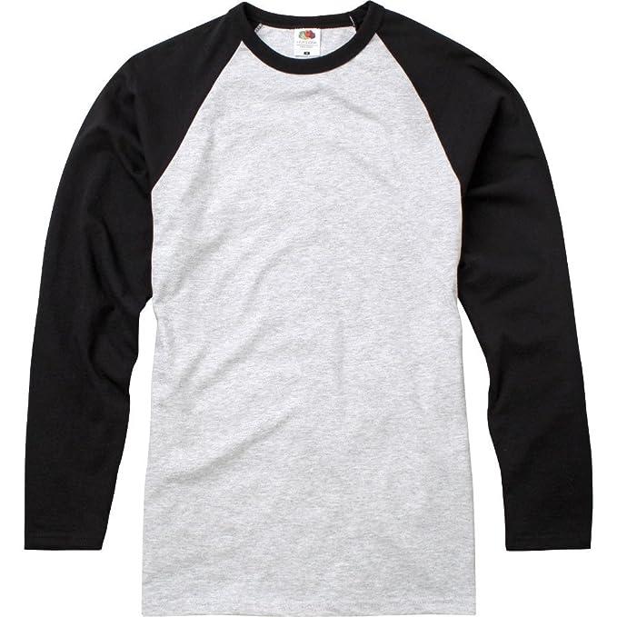 Fotl Long Sleeve Baseball tee, Camisa para Hombre: Amazon.es: Ropa y ...