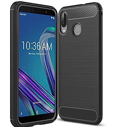new style 2a31b 18857 Bracevor TPU Flexible Shockproof Brushed Texture Back Case Cover for ASUS  ZenFone max Pro M1 (Black)