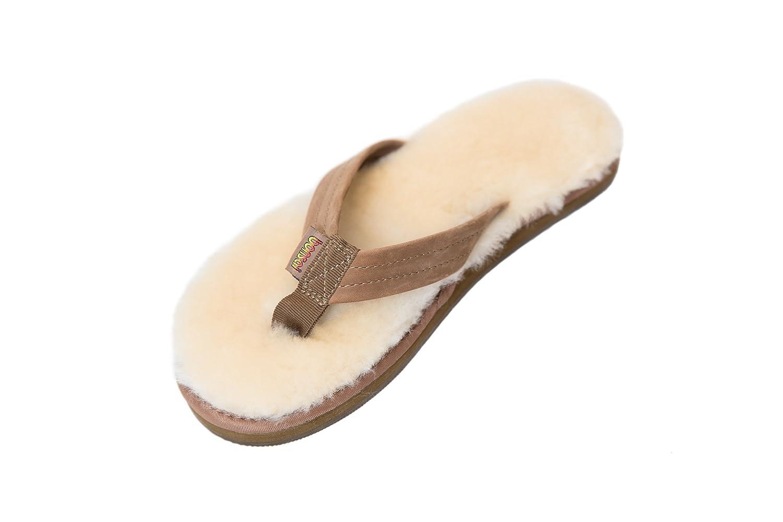 2d3de0957b1 Bonsai Sandals - Womens Original Sheepskin Sandal - The Comfort of  Australian Shearling Meets Flip Flops  Amazon.co.uk  Shoes   Bags