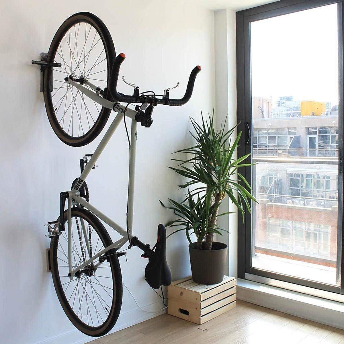 Maxfind Pedal Hook Deluxe Bike Rack Garage Wall Mount Bike Hanger Storage Horizontal Hook Storage Indoor 3 in 1