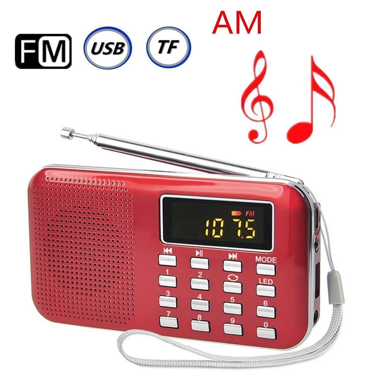 Ohala Mini Portable Am/Fm Radio Mp3 Music Player Speaker Support Micro Sd/tf Card (black) 4783260