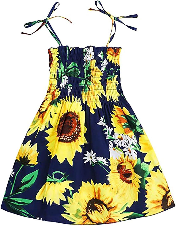 Baby Girl One-Piece Dress Toddler Princess Rainbow Printed Summer Sleeveless Dressy Halter Onesie