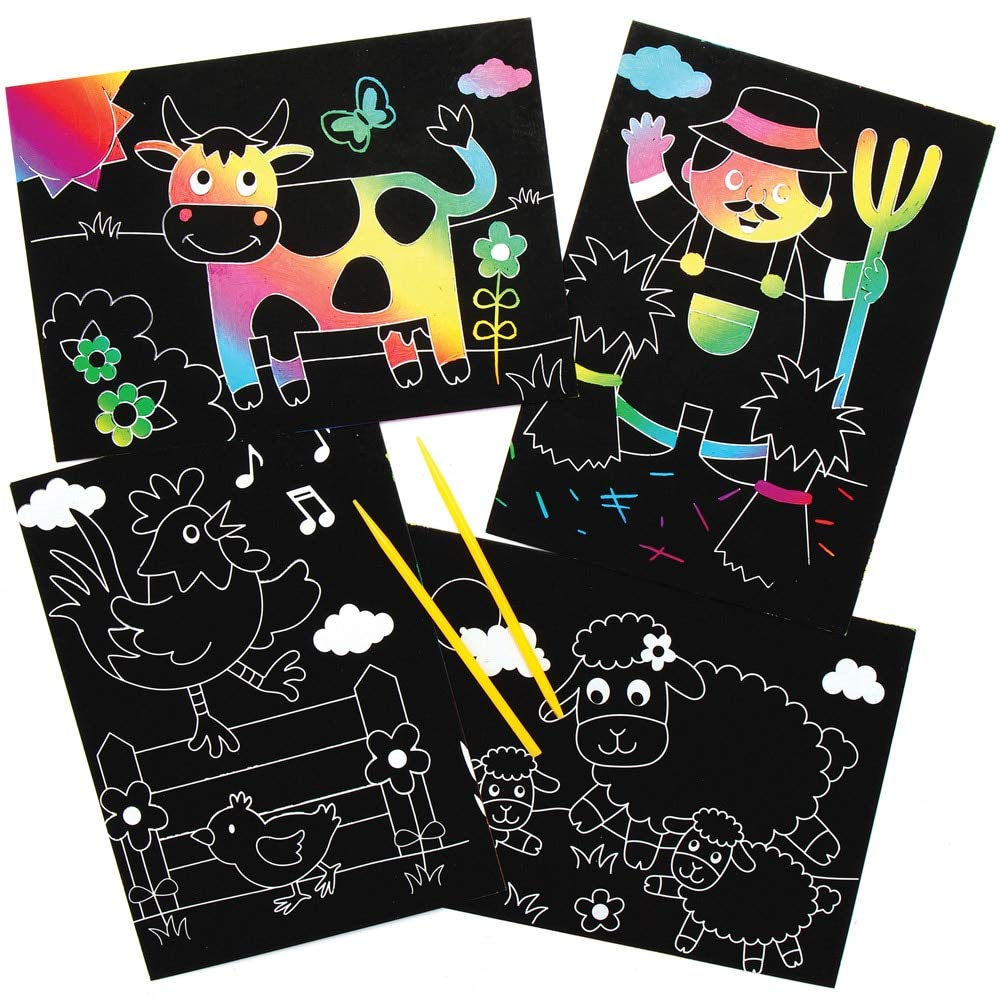 Foam Stamp Set for Children Pack of 10 Ideal for Kids Painting Arts and Crafts Projects Baker Ross AX857 Bug Stampers