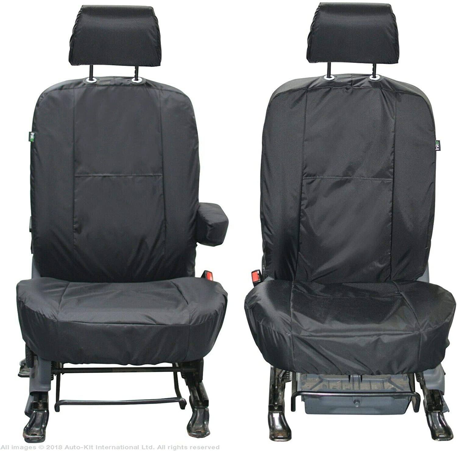 INKA Fully Tailored Waterproof Front Seat Covers Black MY 2002-2013 to fit Ford Transit Connect Tourneo MK1