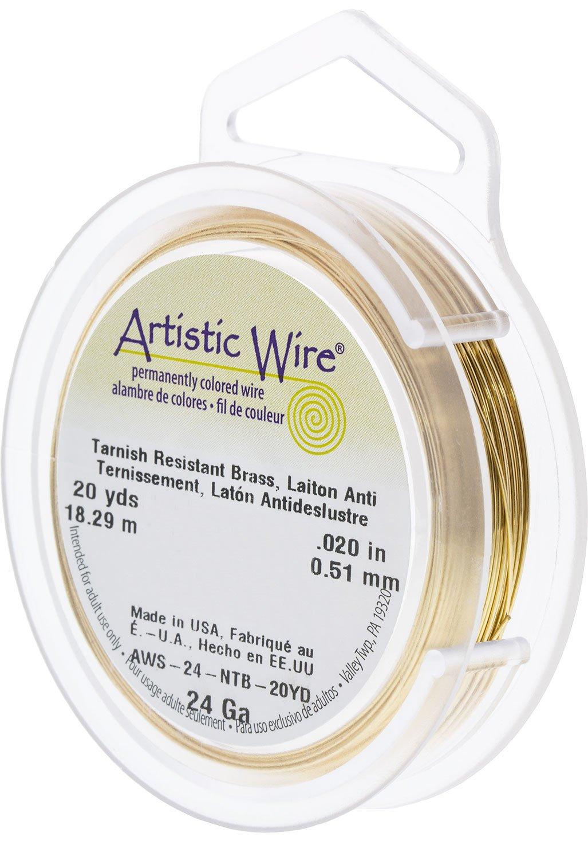 Artistic Wire 24-Gauge Non-Tarnish Brass Wire 20-Yards