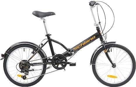 F.lli Schiano Pure Bicicleta Plegable, Unisex-Adult, Negro-Naranja ...
