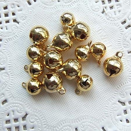 100 PCS Petites Clochettes Grelots en M/étal Jingle Bells pour No/ël//D/écoration