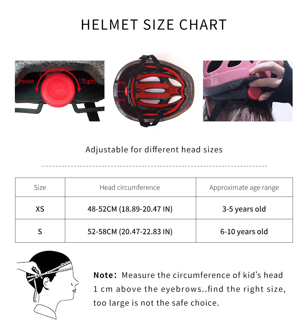 ADMIRE Child Kids Infant Toddler Youth Cycling Bicycle Riding Bike  Multi-Sport Outdoor Activities Helmet with Safety Protective Gear Knee Pads  Elbow