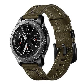 Amazon.com: Sunward Leather Replacement Watch Wrist Strap ...