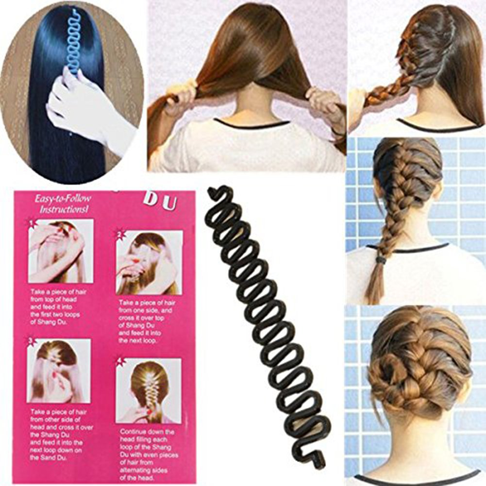 Lumanuby DIY Magic Girl Ladies Hair French Braider Styler Care Braiding Styling Tool Fashion Hair Twist Styling Bun Maker 1Pcs