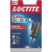Loctite Super Glue-3 Pincel, pegamento transparente con pincel aplicador, adhesivo universal de triple resistencia, con…