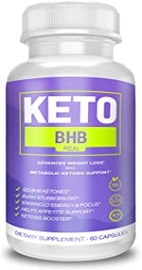 Keto BHB Real Capsules for Weight Loss, Keto BHB 800 Pills for Real Energy, Focus, Metabolism Boost - Premium Advanced Powder Exogenous Ketones for Rapid Ketosis Diet for Men Women