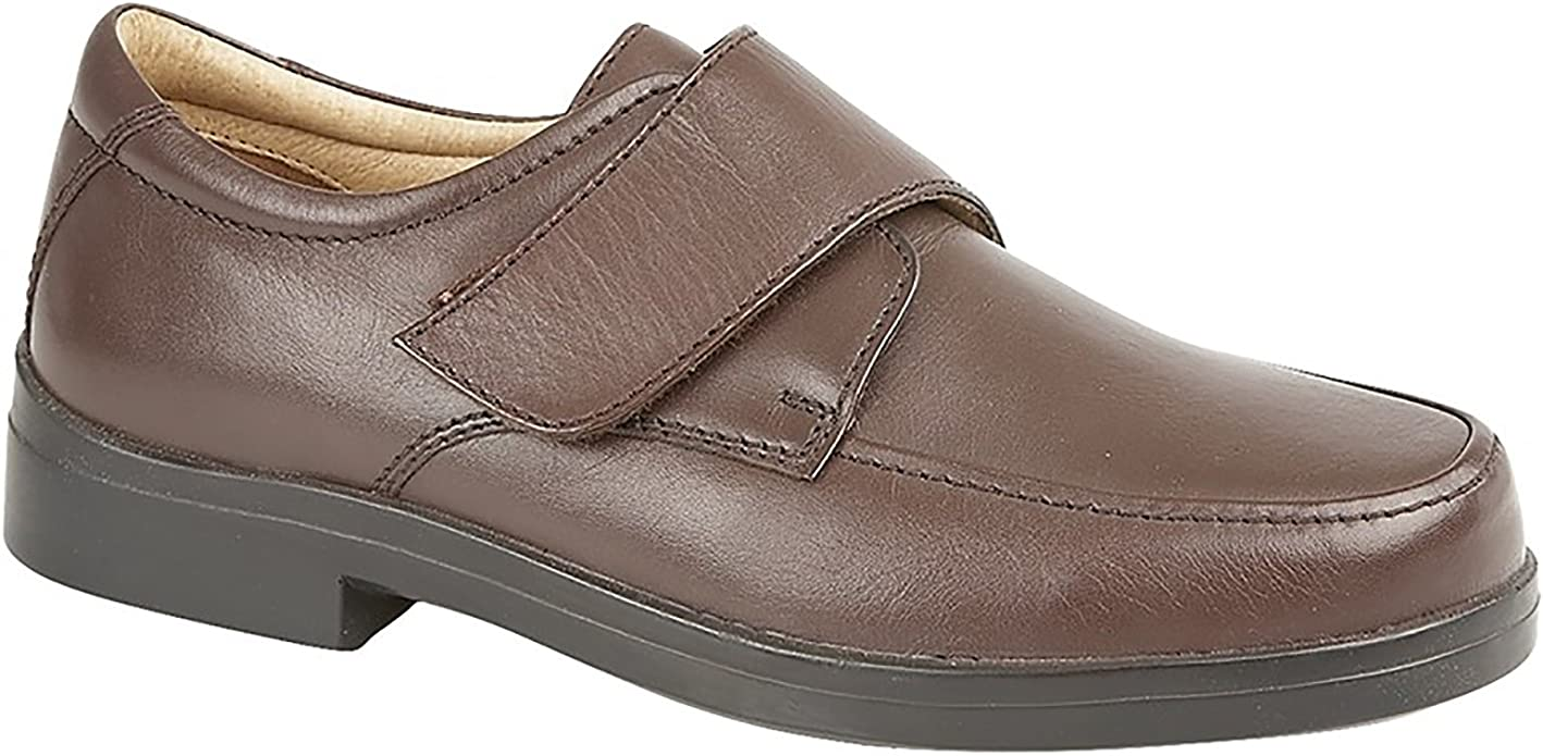 Roamers - Zapatos de piel para hombre (talla XXX), color marrón