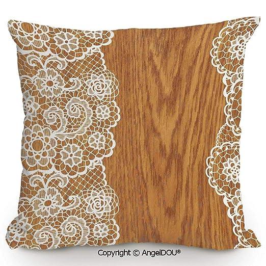 AngelDOU - Cojín de Lino y algodón para sofá, diseño ...