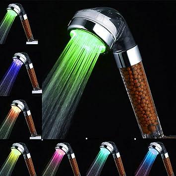 Duschkopf Led Farbwechsel Wassersparend Handbrause Amison 7 Farbe