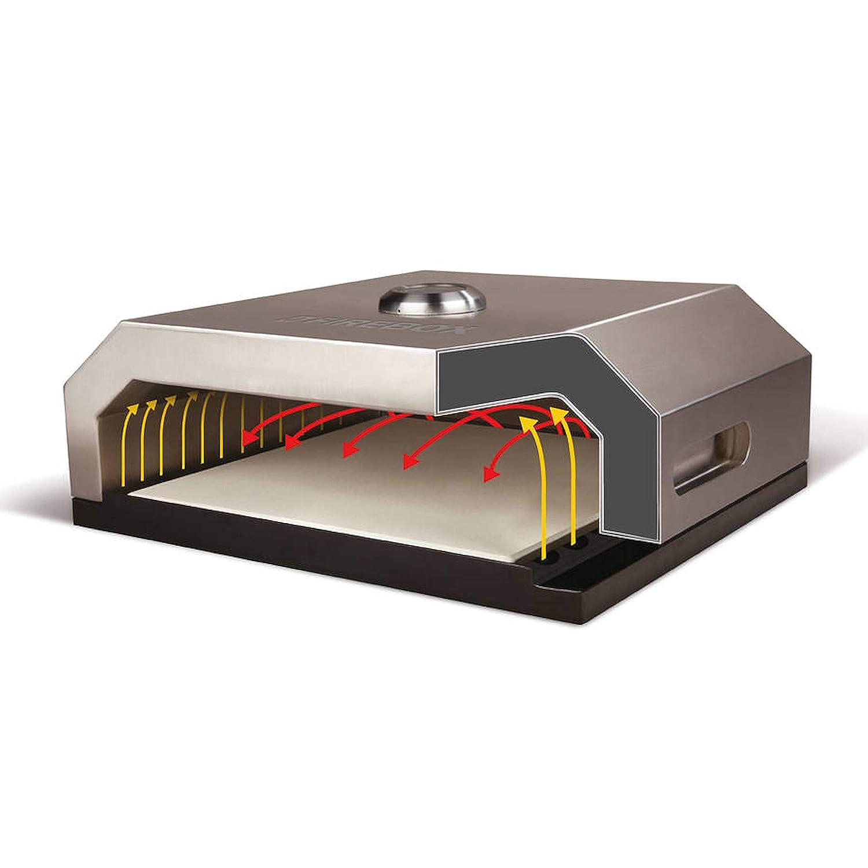 con Piedra y term/ómetro Onlyfire BGC-3028 de Acero Inoxidable Pizza Horno Cubierta Kit para Parrillas de Gas Parrillas de carb/ón 49X39X12CM