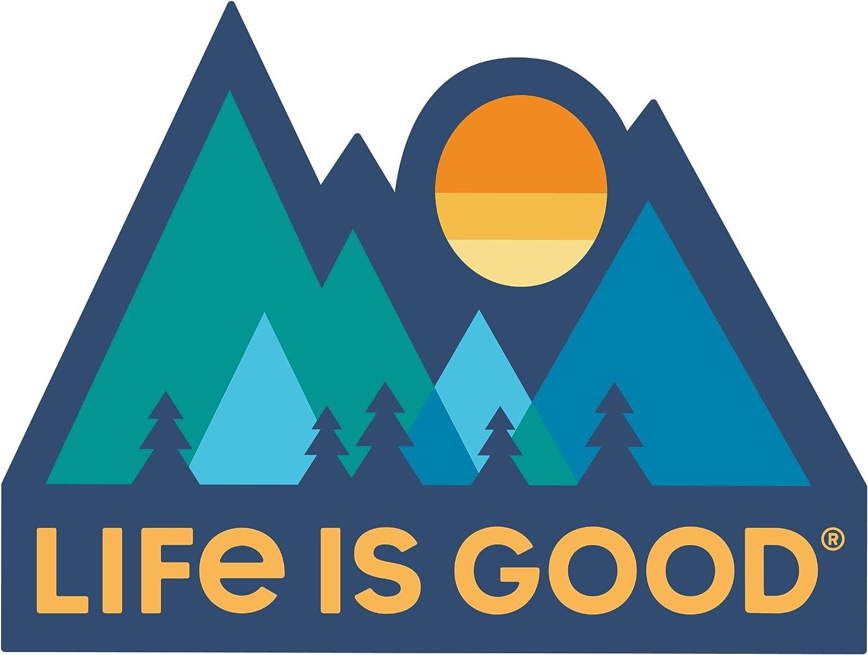 Darkest Blue Die Cut Sticker Life is Good LIG Mountains