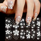 Binmer(TM)DIY Lace Diamond Flower Nail Art Stickers Decoration Bling Decal Manicure Nails Sticker Beauty Makeup Tool