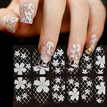 Amazon Binmertmdiy Lace Diamond Flower Nail Art Stickers