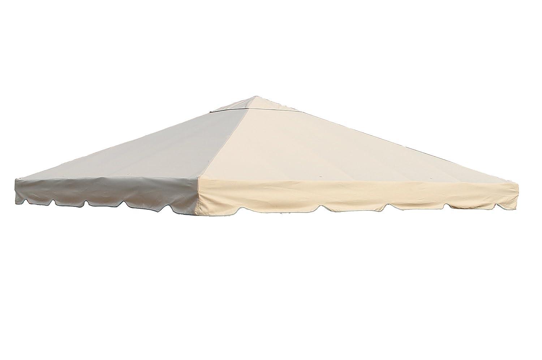 OUTFLEXX Ersatzdach aus hochwertigem Polyester in beige für Pavillons 3 x 3 Meter, Gartenzubehör, Pavillondach, wetterfest, wasserabweisend, imprägniert, Zeitloses Design, naturfarben