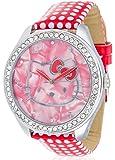 Hello Kitty Mädchen-Armbanduhr Yae Red Analog Quarz Kunstleder HK480S-868